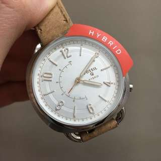 FOSSILS HYBRID SMARTWATCH - Q ACCOMPLICE SAND LEATHER