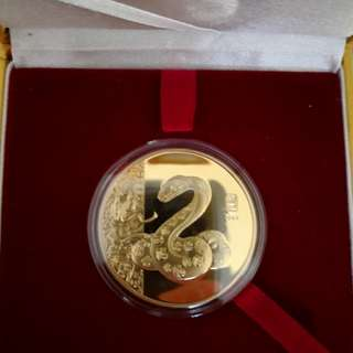 24k Gold Medallion Coin - Year of Snake