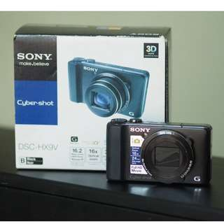 Sony Cyber-shot DSC-HX9V Digital Camera (Black)  16x zoom + free 32GB SD Memory Card
