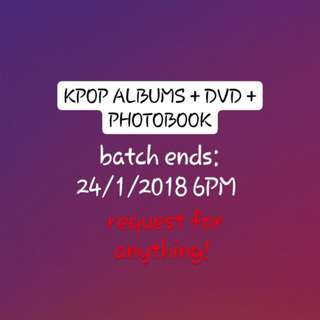 KPOP ALBUMS + DVDS + PHOTOBOOK ( Wann One BTS EXO GOT7 Twice Day6 Momoland Infinite Monsta X Lovelyz Stray Kids etc...)
