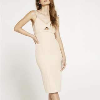 Size 10 Bardot Nude Midi Dress