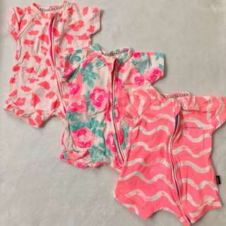 Wondersuit Rompers (set of 3)