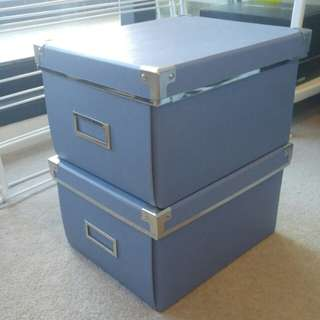 IKEA storage boxes 2pcs