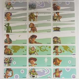 Toy Story Children Name Sticker Labels