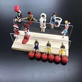 扭蛋 杯緣子 木頭 展示架 玩具收納