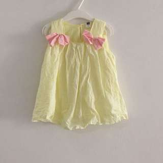 Baby Girl Dress in Yellow