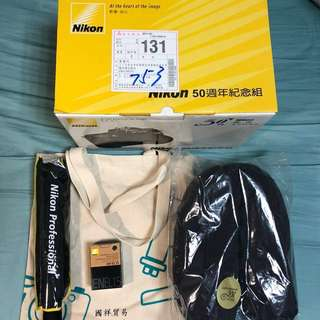 Nikon100週年紀念組(原廠電池EN-EL15 、自動折疊傘、帆布袋、頸枕)