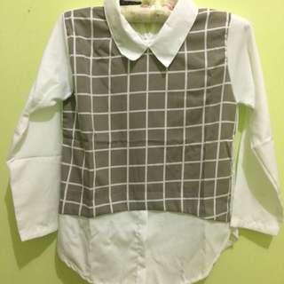 Combi monogrid blouse
