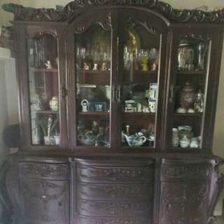 Antique Narra Display Cabinet