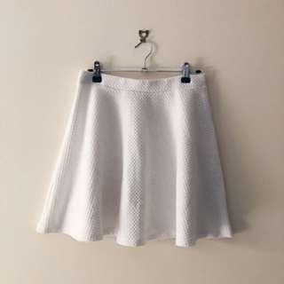 White skater skirt size 10-12