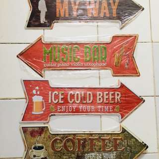 Vintage collectible signage