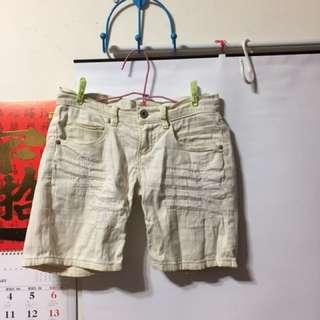 Lad米白色牛仔褲