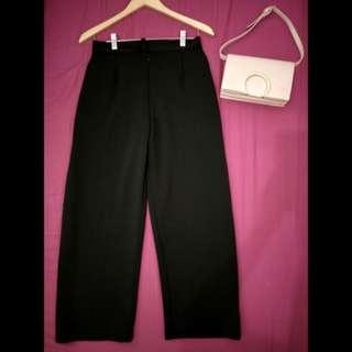 Celana kulot panjang (hitam)