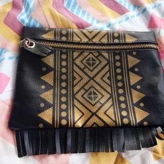 Aztec Black Pouch