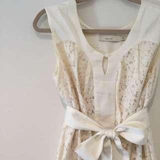 ASOS White Lace Floral Size 6-14