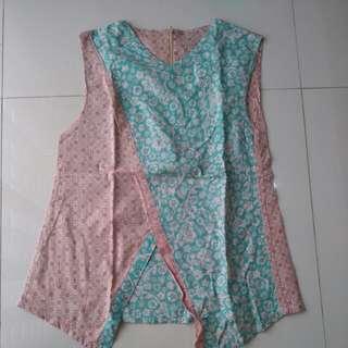 Blus Batik Dua Warna