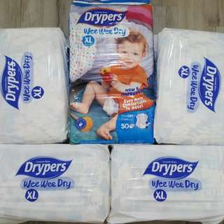 Drypers Tape Wee Wee Dry XL | 210 pcs | CHEAPEST in market!