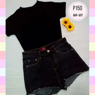 Highwaist Shorts Black