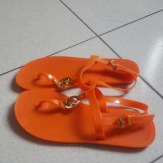 Authentic MK jelly sandals