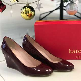Women Heels Kate Spade New York Amory Red Chestnut Patent