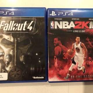 2 x PS4 games