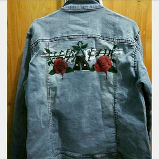 Custom denim painting/lukis denim