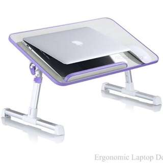 A8 Foldable Laptop Table (with USB FAN)/Purple color/laptop table desk