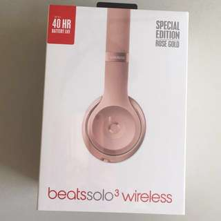 BRAND NEW Beats Solo3 Wireless Headphone with Carrying Case