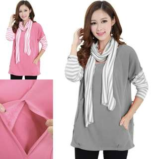 KOREAN STYLE CASHMERE MATERNITY + NURSING TOP