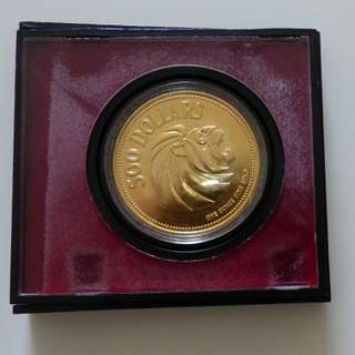 Singapore $500 Gold Coin - Lion Head
