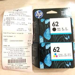 HP Ink Cartridge 62