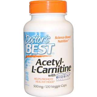 Doctor's BEST Acetyl-L-Carnitine 500mg 120 Caps