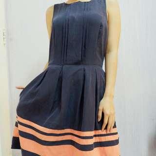 Dress Forever21 Stripes Navy