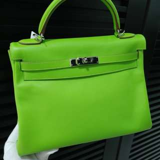 Hermes kelly 32 apple green