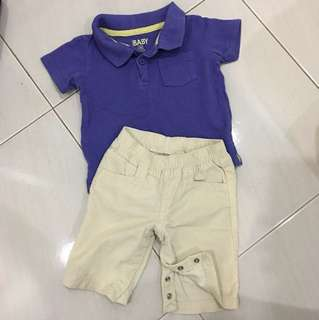 Polo shirt with pant set