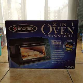 Imarflex 2 in 1 oven with Panini grill