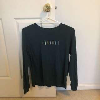 Dark green insight long sleeve shirt
