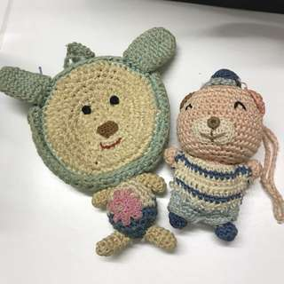knitted coin bag &toy