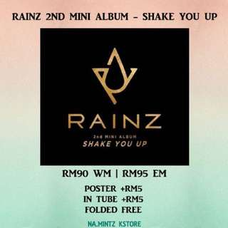 PRE-ORDER RAINZ 2ND MINI ALBUM - SHAKE YOU UP