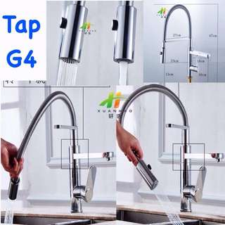 New Spring Retractable Mixer Kitchen Tap Faucet