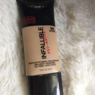 LOREAL INFALLIABLE PRO MATTE FOUNDATION