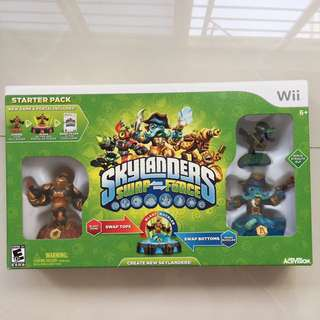 Nintendo Wii Skylanders Swap Force game set for sale.