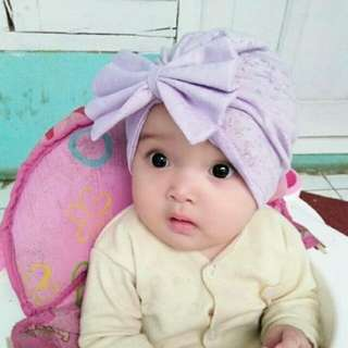 Turban ungu muda