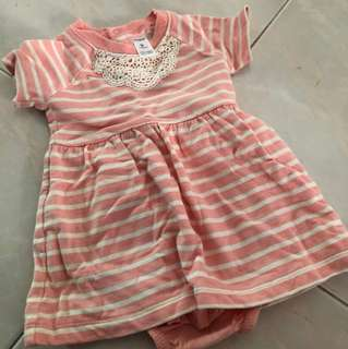 Baby girl dress - carter - 9 months