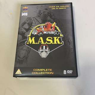 Mask m.a.s.k. Cartoon 80s dvd complete collection over 25 hours on 8 discs