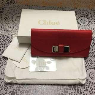 Chloe 紅色長銀包  Chloe red long wallet