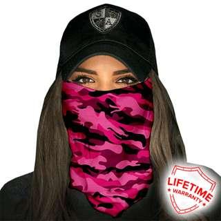 SA Co. Face Shield: MILITARY-CAMO- PINK
