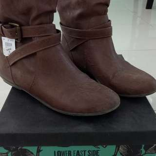 Low cut brown boots for sale