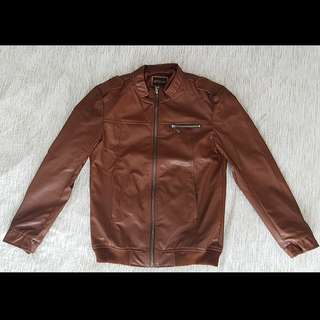 Brand New Men's Faux Leather Jacket with Lining