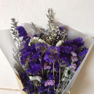 Ready Stock Forget Me Not Dried Bouquet